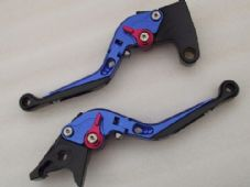 Triumph AMERICA/LT (06-15), CNC levers fold/extend blue/red adjusters, F14/T333